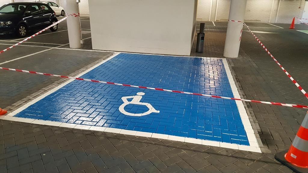 Belijning Mindervalide parkeerplaats