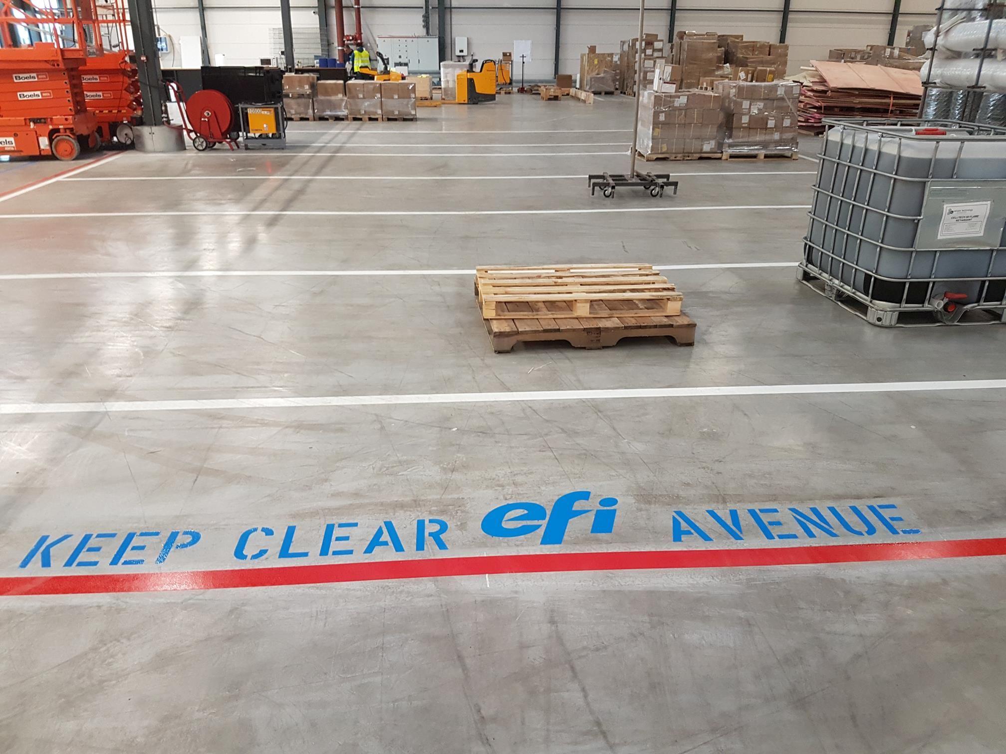 Safety markering met bedrijfslogo