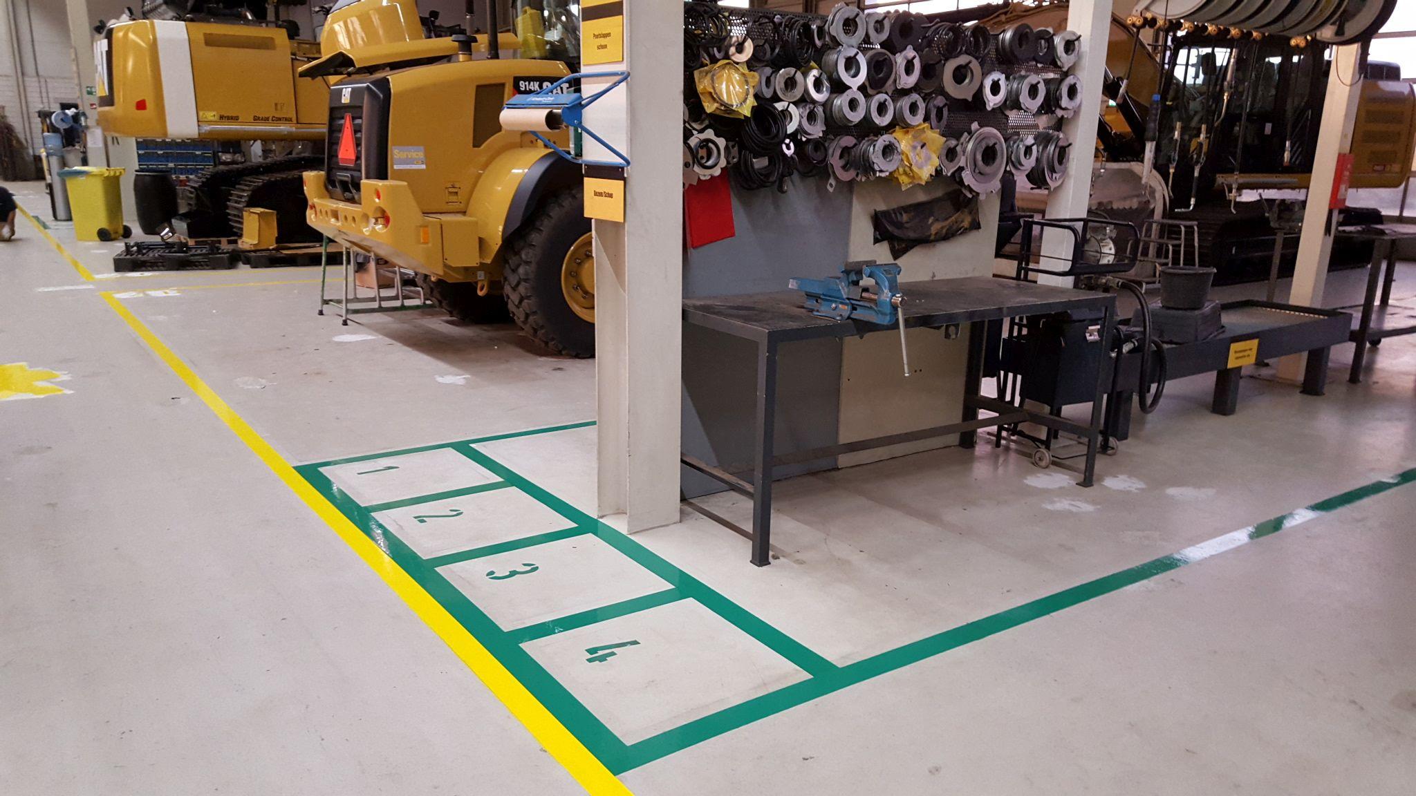 Werkplaats belijning groen 5S