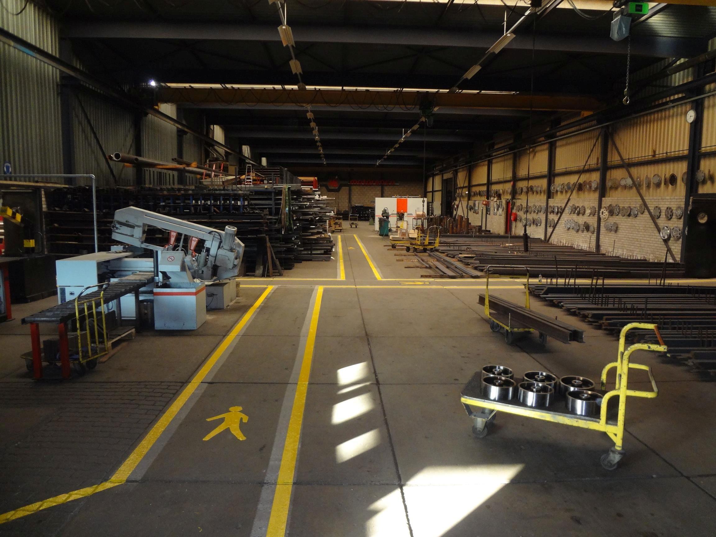 Werkplaats looppad belijning
