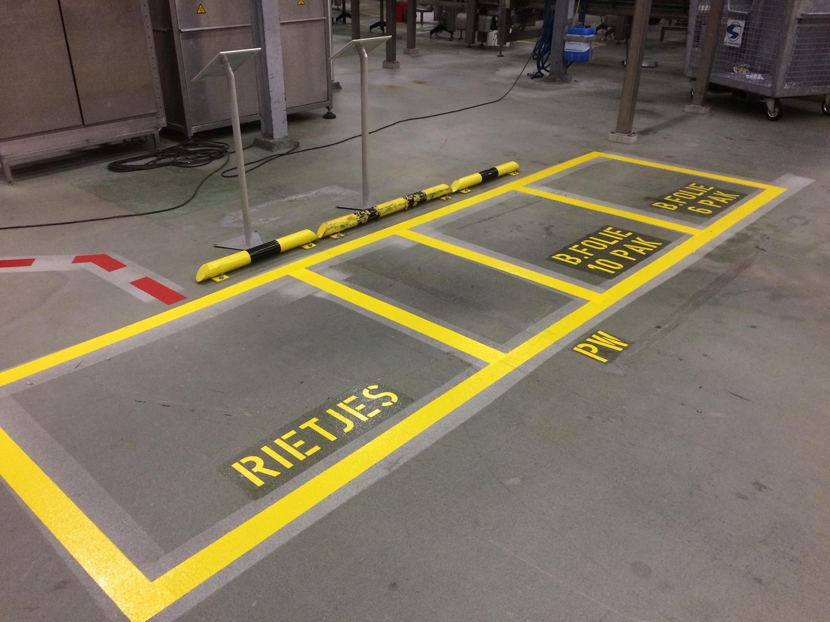 Werkplaats belijning geel 5S